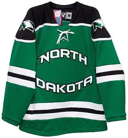 4491d8b5eb7 K1 Sportswear North Dakota Fighting Hawks Men's Hockey Jersey (4X-Large)