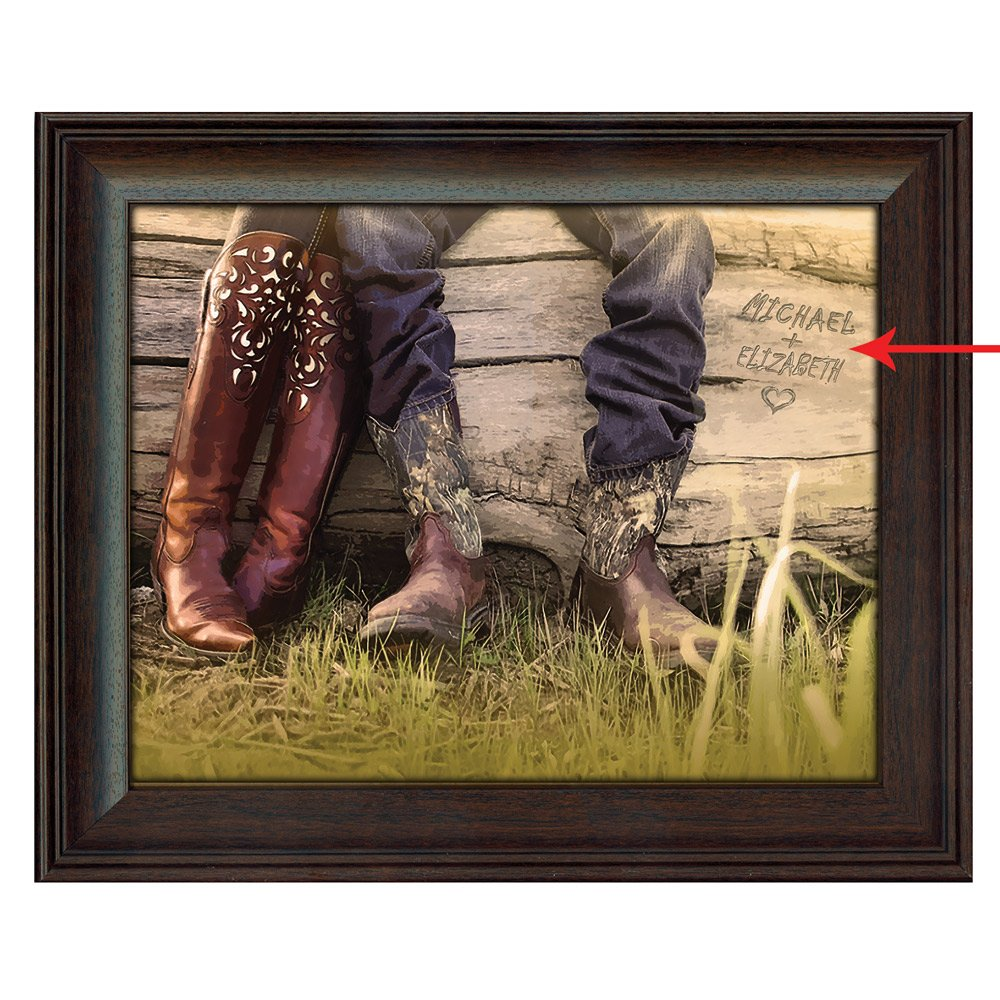 Personalized Boot Love Framed Canvas - Large
