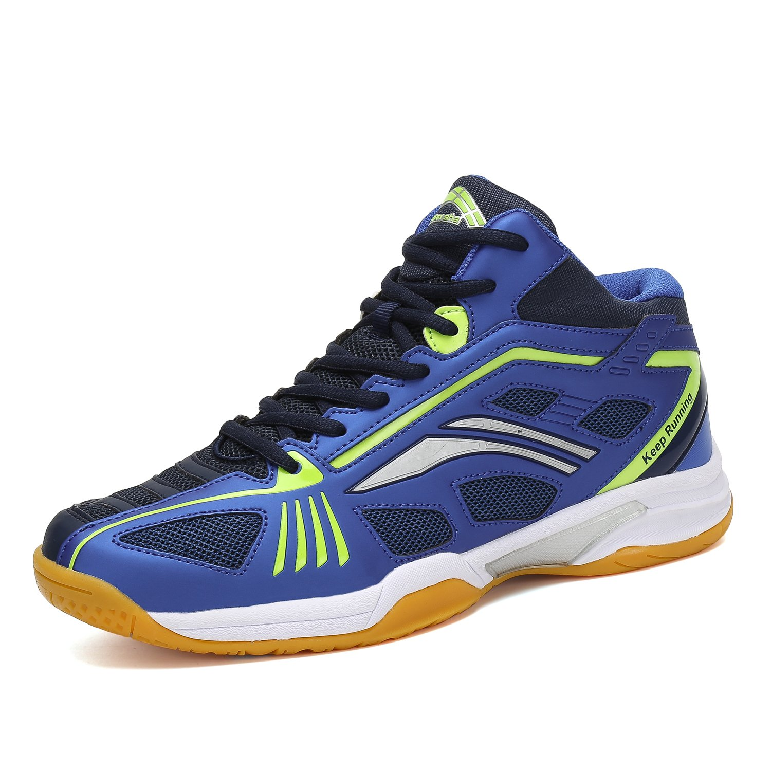 blueee 6.5 D(M) US Fashion Sneakers Badminton shoes Men Non Slip Indoor Court Tennis Volleyball Sneakers Safety Training shoes