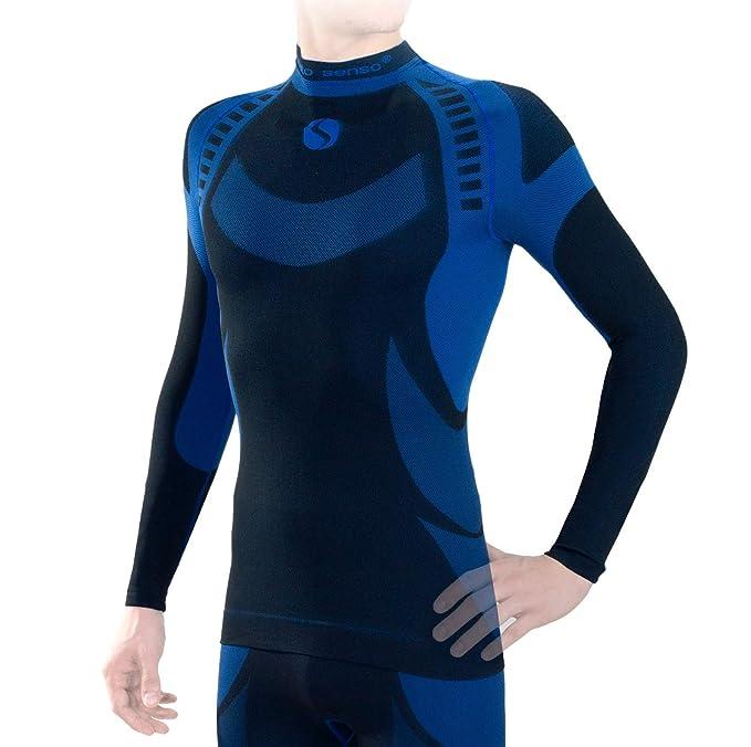 Sesto Senso Ropa Interior Térmica para Hombre Camiseta Térmica de Manga Larga Camisa Funcional Termo Activo