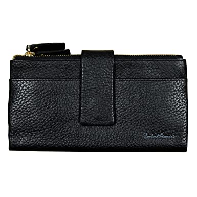 d485c8dd9b13 Lombardi Giovanni Women's Leather Wallet 12 Slots And Double Zipper ...