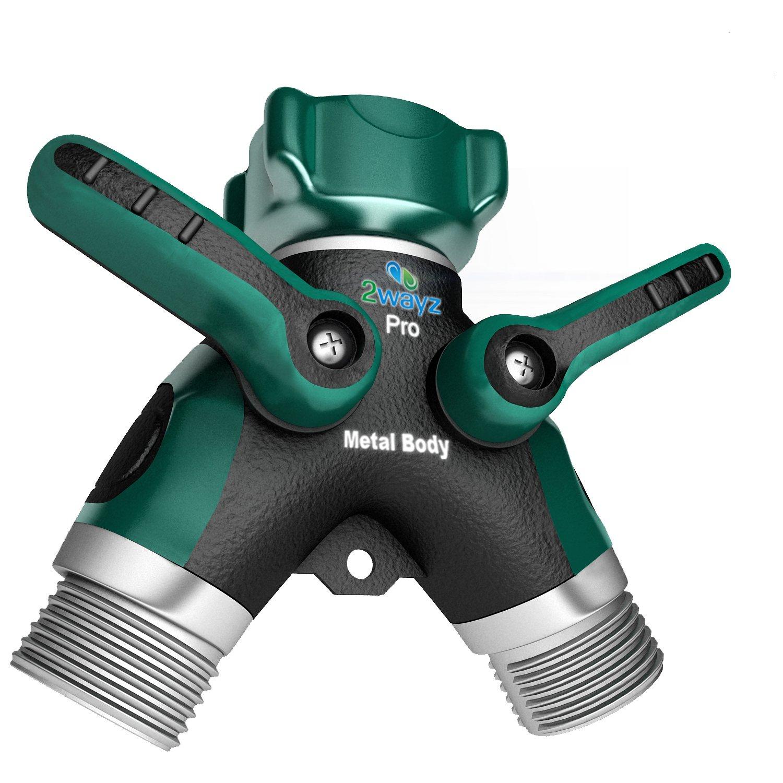 2wayz FULL METAL BODY Garden Hose Splitter | Y Ball Valve Connector For  Your Soaker Hose, Outdoor Faucet, Sprinkler U0026 Drip Irrigation Systems.