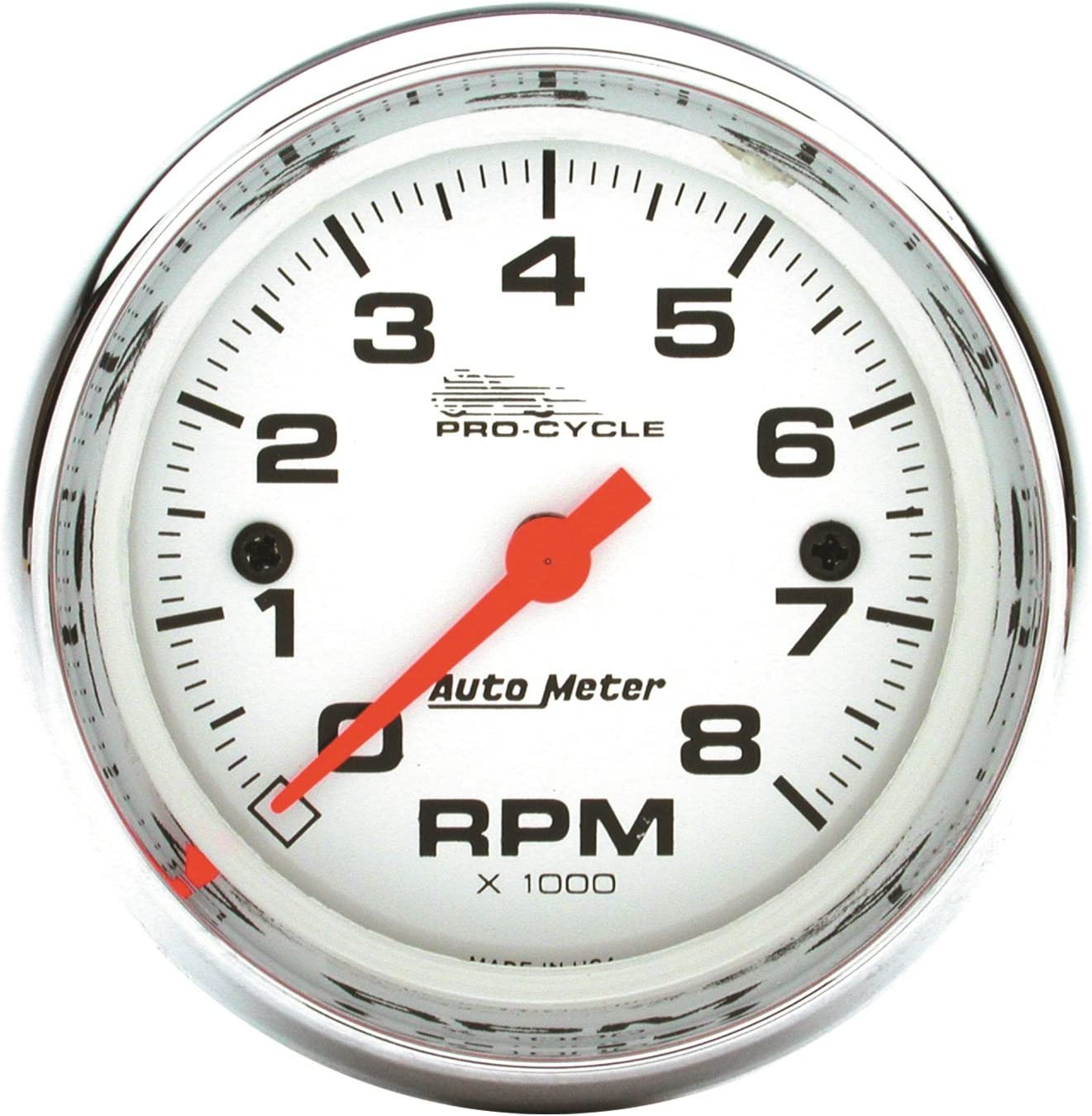 Tach Black Pro-Cycle 2/&4 Cylinder Auto Meter AutoMeter 19306 Gauge 2 5//8 8K RPM