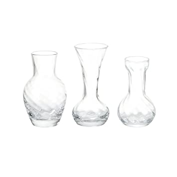 Amazon Celebrations By Mikasa Set Of 3 Assorted Glass Bud Vases