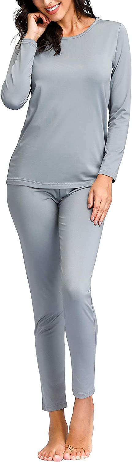 Fleece Lined Long Johns Womens Base Layer Set Degrees of Comfort Thermal Underwear for Women
