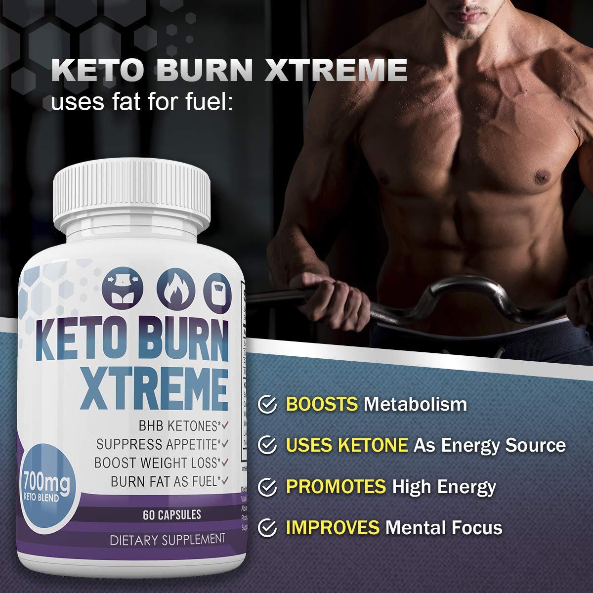 Keto Burn Xtreme - BHB Ketones - Suppress Appetite - Boost Weight Loss - Burn Fat As Fuel - 700mg Keto Blend - 30 Day Supply by Keto Burn Xtreme (Image #4)