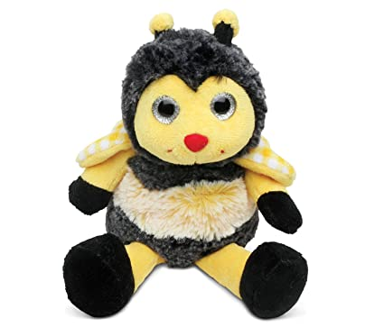 Amazon Com Puzzled Black Yellow Sitting Bee Plush 6 Inch Super