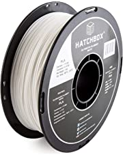 HATCHBOX 3D PLA-1KG1.75-WHT PLA 3D Printer Filament, Dimensional Accuracy +/- 0.05 mm, 1 kg Spool, 1.75 mm, White