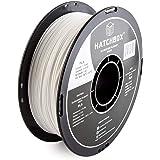 HATCHBOX filamento para impresora 3D PLA blanco de 1,75 mm, bobina de 1 kg (2.2 libras), precisión dimensional +/- 0,03…