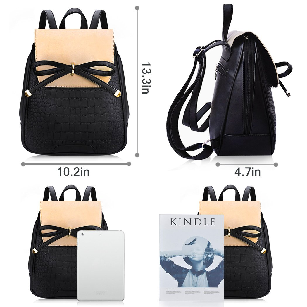 46344e90cf44 Backpack Purse, COOFIT Mini Leather Backpack Small Fashion Backpack Casual  Daypack For Women