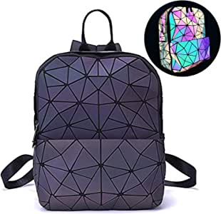 Amazon.com: Harlermoon Geometric Backpack Holographic