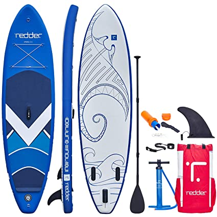 redder Inflatable Stand Up Paddle Board with Premium SUP Accessories & Backpack Non-Slip Deck, Leash, Paddle, Hand Pump & Repair Kit