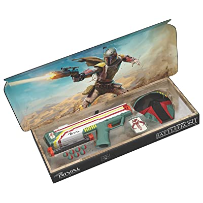Hasbro Nerf Rival Apollo XV-700 - Star Wars Exclusive Edition Battlefront II Mandalorian Boba Fett Edition Blaster with Face Mask and Patch: Toys & Games
