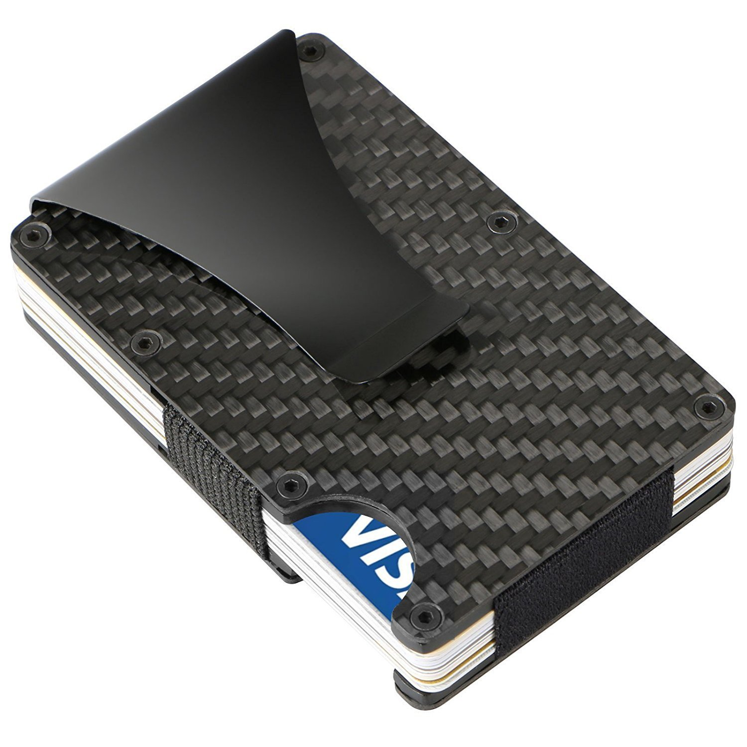 Amazon veanic slim carbon fiber credit card holder amazon veanic slim carbon fiber credit card holder minimalist business card id holder rfid blocking front pocket wallet money clip office products magicingreecefo Gallery