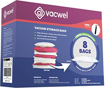 Amazon.com: Ziplock Bolsas de almacenamiento de la ropa con ...