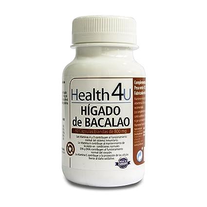 H4U Hígado de Bacalao 60 cápsulas blandas de 800 mg
