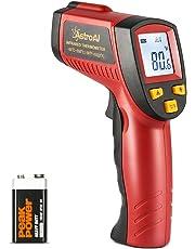 AstroAI Thermomètre Infrarouge Sans Contact Laser Professionnel -50°C à 550°C, Mesures de Températures avec Ecran LCD Rétroéclairé , Pile fournie, Garantie 3 Ans