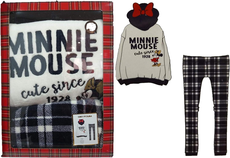 Pijama de Manga Larga con Capucha de Minnie Mouse de Disney ...