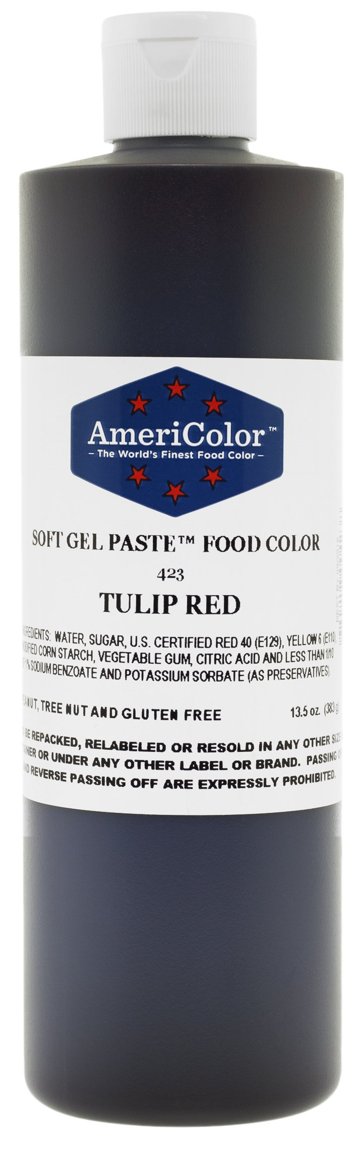 TULIP RED 13.5 Ounce Soft Gel Paste Food Color