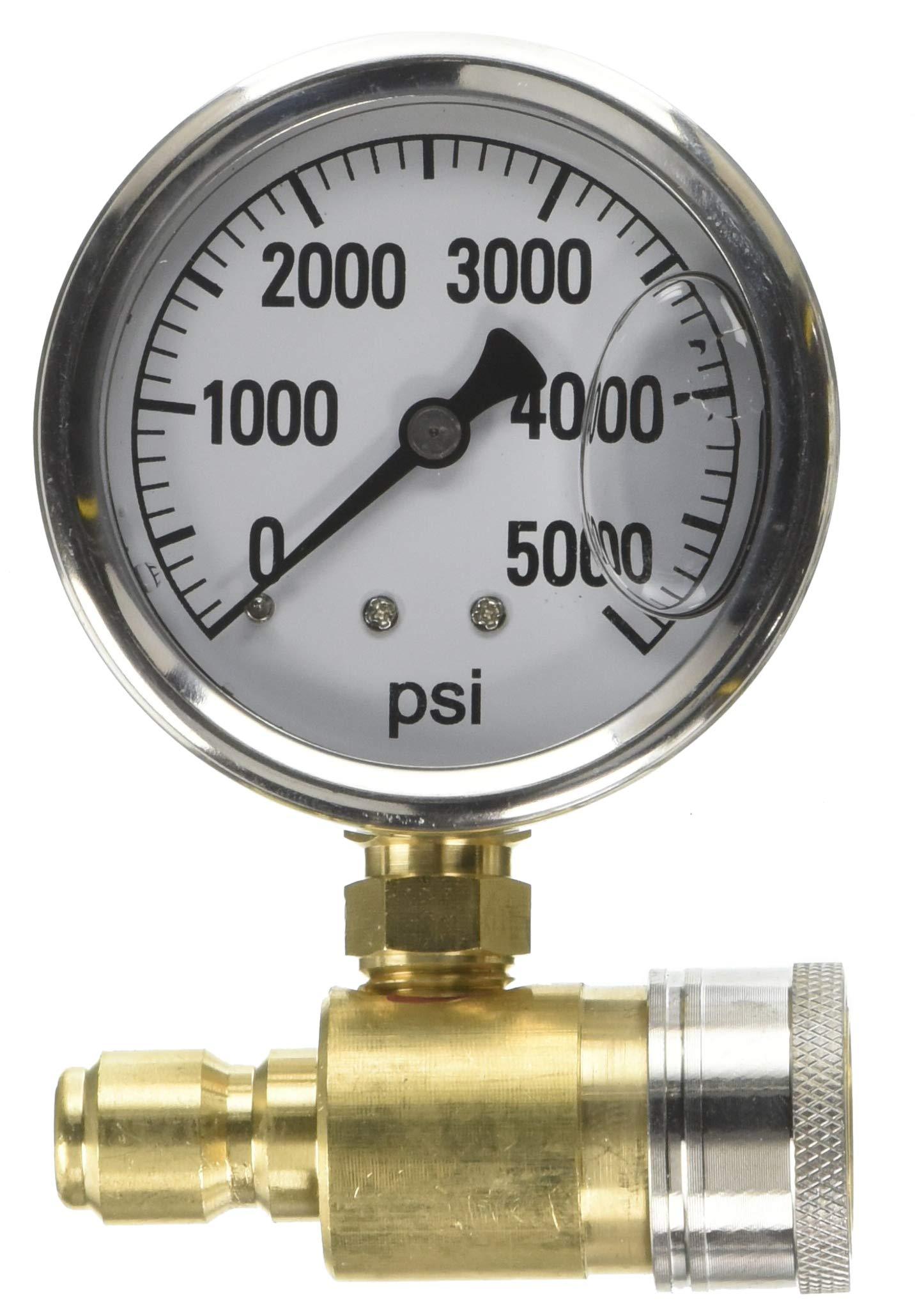Valley Industries PK-QCG-5000 Pressure Washer Gauge, Brown by Valley Industries (Image #1)