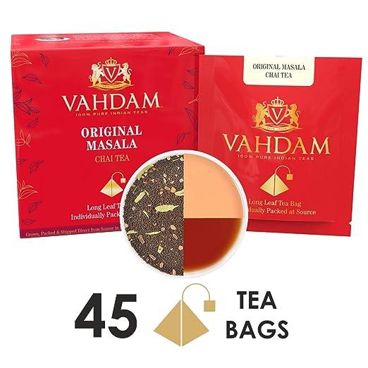 4 opinioni per Bustine di tè Masala Chai originale indiano- 15 bustine di tè (confezione da 3)-