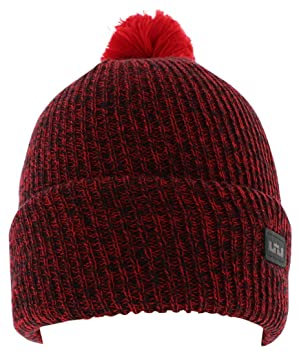 d3141e3f787 Nike Unisex Cuff Pom Lebron Patch Red Beanie Hat OS  Amazon.co.uk  Sports    Outdoors