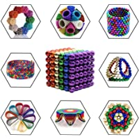Toys Magnetic Ball, Magnetic Sculpture Toys for Intelligence Development and Stress Relief (5MM Set of 216 Balls) (5mm-Multicolor)