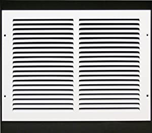 """14""""w X 10""""h Steel Return Air Grilles - Sidewall and Ceiling - HVAC Duct Cover - White [Outer Dimensions: 15.75""""w X 11.75""""h]"""