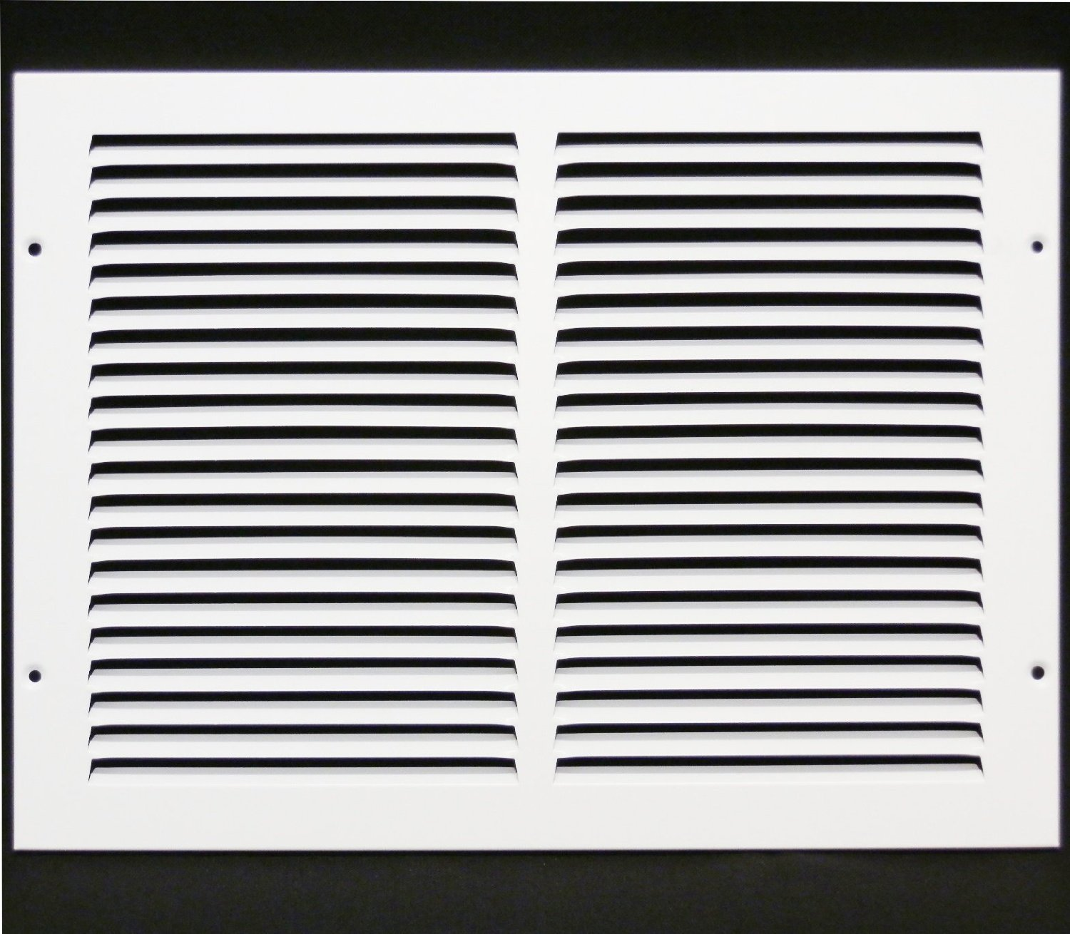 14''w X 10''h Steel Return Air Grilles - Sidewall and Cieling - HVAC DUCT COVER - White [Outer Dimensions: 15.75''w X 11.75''h]