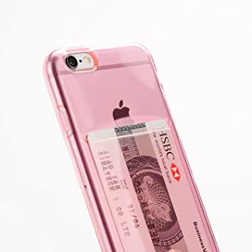 Funda Compatible iPhone 6 / 6S de Apple con Tarjetero Rosa para ...