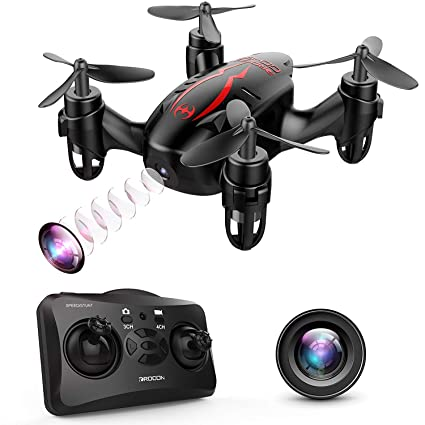 DROCON GD60 Mini Drone RC Quadcopter with 720P HD Camera Live Video,  Headless Mode, 360° Flip Function, Easy & Safe to Fly - Great Choice for