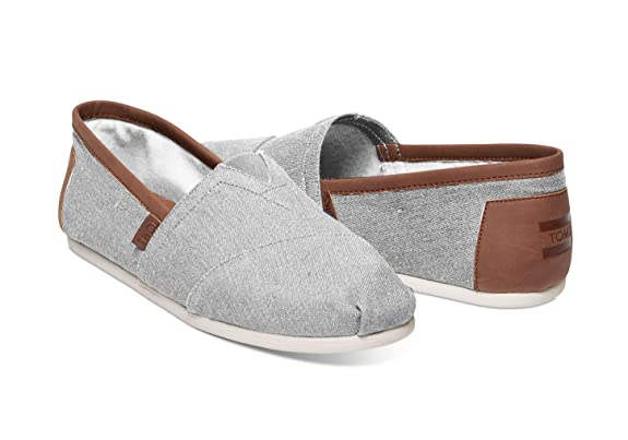 Amazon.com | TOMS Mens Chambray Classics Frost Grey Chambray 2 14 D US | Loafers & Slip-Ons