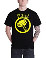 Officially Licensed Merchandise Marvel Comics Thor Distressed Hammer T-Shirt (Black)