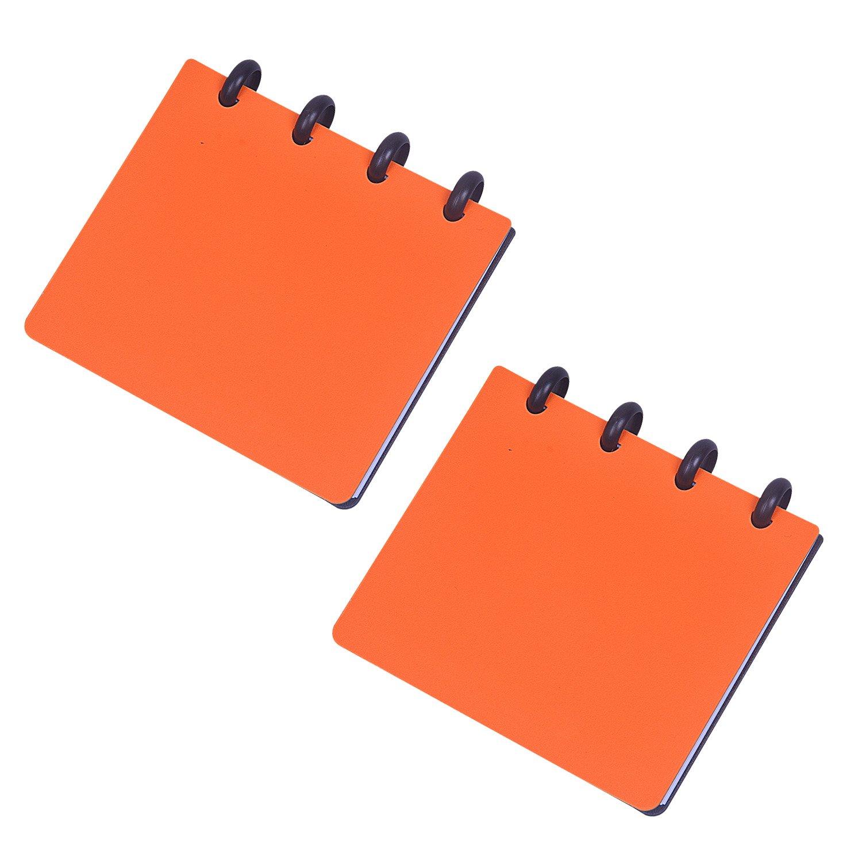 Rancco Bound Spiral Memo Book, 2 pcs Hard Cover Pocket Mini Notebook Tactical Notepad, 11x9 cm