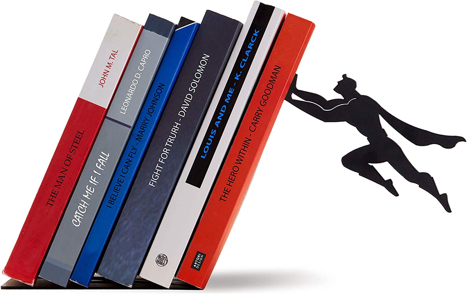Black Metal Superhero Bookend