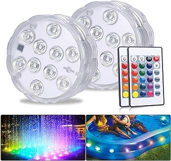 Multicolor Rgb 10-LED luces Impermeable Bajo El Agua.. Sumergible Luces Led