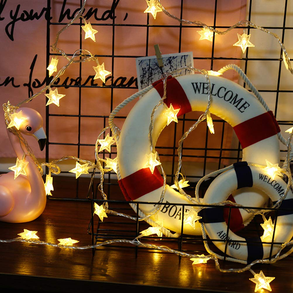 Fairy String Light for Home Garden Decoration Twinkle Star 40 LED 14 FT Star String Lights Battery Operated Warm White Party Wedding Christmas