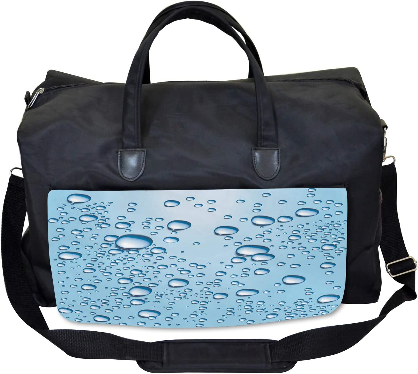 Glass with Water Marks Large Weekender Carry-on Ambesonne Modern Gym Bag