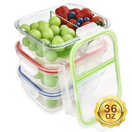 Amazon.com: Pack de 3 recipientes para comida Renfo, de ...