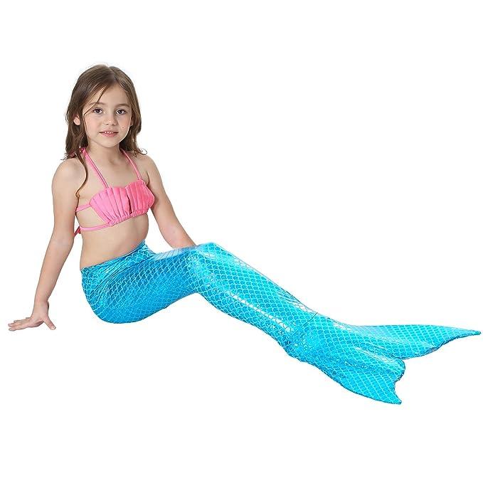 Amazon.com: Jasmey - Traje de baño de sirena para niña (3 ...