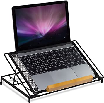 Anti Slip Laptop Foot Stand Rack Wire Organizer Notebook Tablets WT