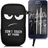 "kwmobile custodia porta cellulare in neoprene per smartphones M - 5,5"" - porta smartphone custodia cover protettiva con Design Don't touch my phone"