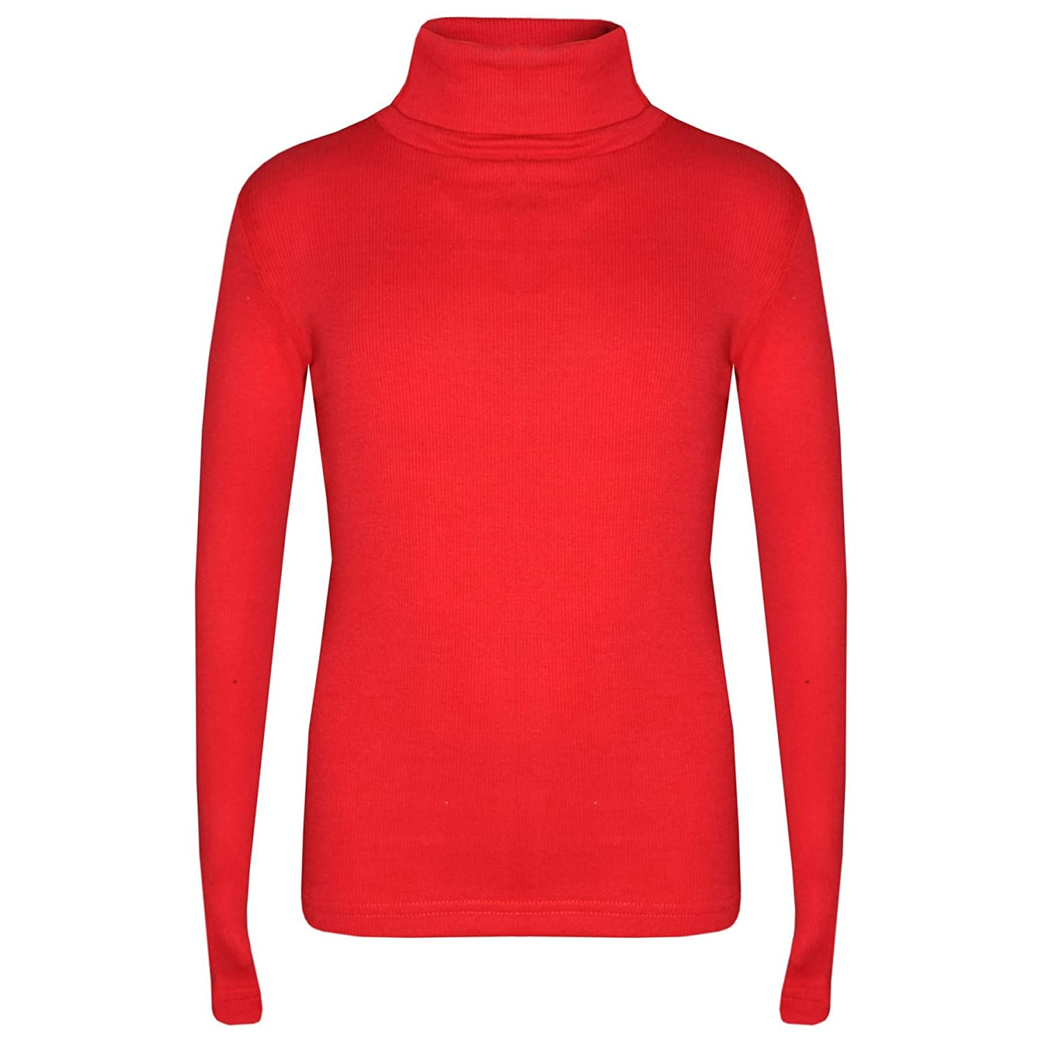 A2Z 4 Kids® Kids Girls Polo Neck T Shirt Top Designer's Thick Cotton Turtleneck Fashion Long Sleeves Tops New Age 2 3 4 5 6 7 8 9 10 11 12 13 Years