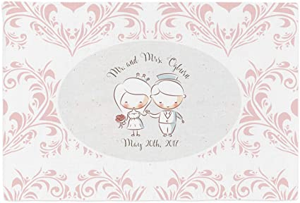 Amazon com: Wedding People Placemat (Fabric) (Personalized