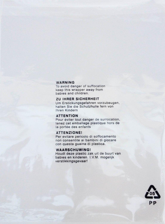 Sacchetti di plastica autosigillanti, confezione da 100 pezzi, avvertenza anti soffocamento in 5 lingue 12 x 16' (305 x 406mm) avvertenza anti soffocamento in 5 lingue 12 x 16 (305 x 406mm) China