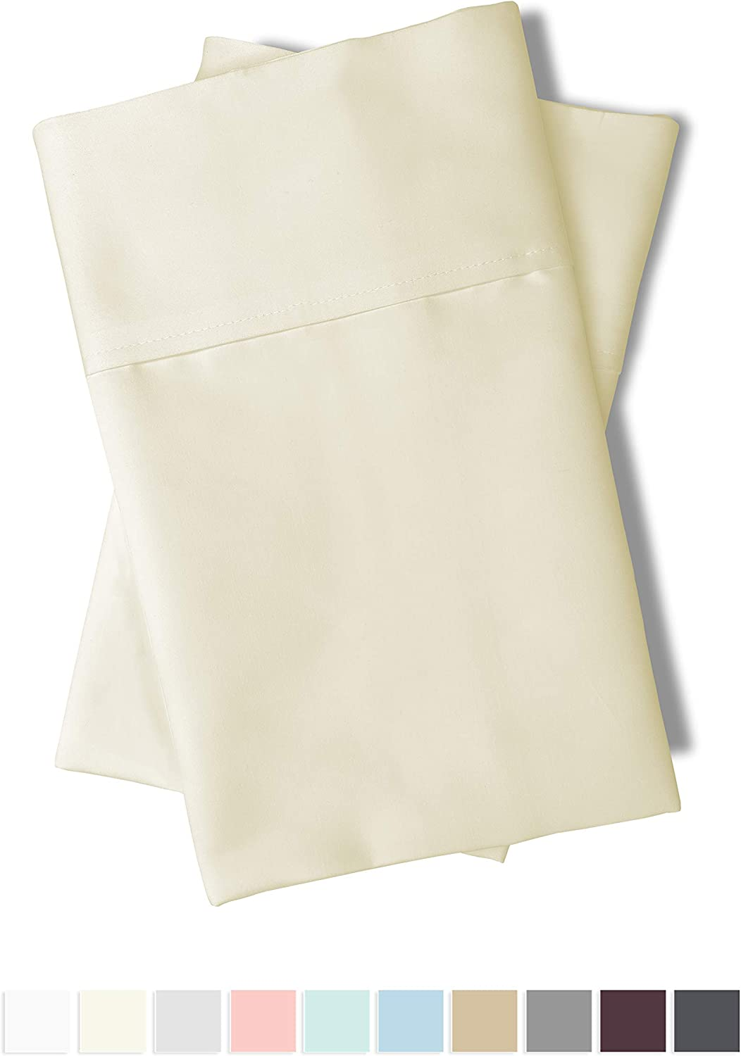 Ivory 100/% Cotton King Size Sheet Set Soft 600 Thread Count Cotton Cream King Sheets Set Deep Pocket Fitted Sheet fit Upto 15 inch 100/% Long Staple Cotton Crisp Sateen King Bed Sheets