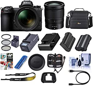Nikon Z6 FX-Format Mirrorless Camera with NIKKOR Z 24-70mm f/4 S Lens - Nikon Mount Adapter FTZ - Bundle with Camera Case+72mm Filter Kit+Spare Battery+Charger+Cleaning Kit+Memory Wallet+PC Software