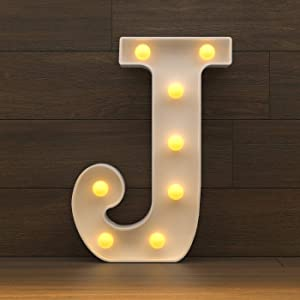 YOUZONE Marquee Letter Lights Sign, Light Up Alphabet Letters for Wedding Birthday Party Battery Powered Christmas Lamp Night Light Home Bar Decoration