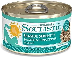 Soulistic Originals Seaside Serenity Salmon & Tuna Dinner in Gravy Wet Cat Food, 3 oz., Case of 12, 12 X 3 OZ