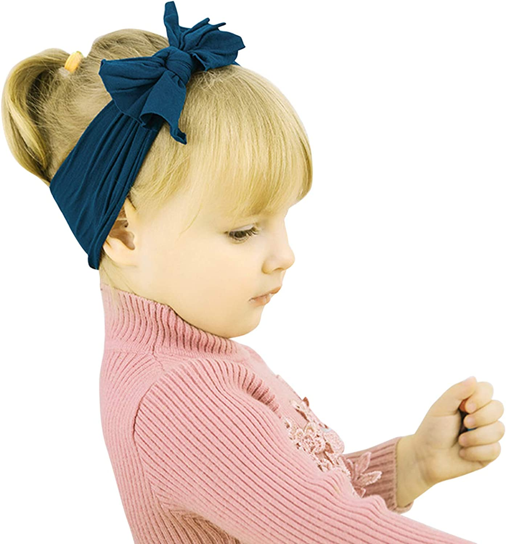 De feuilles Baby Stirnband M/ädchen 6 St/ücke Stirnb/änder Knoten Stirnband Elastisch Schleifen Turban Haarband Knit Head Wraps